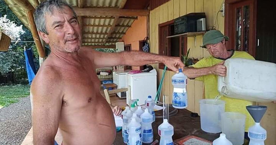 MST produz álcool 70% para abastecer centros de saúde em município de SC