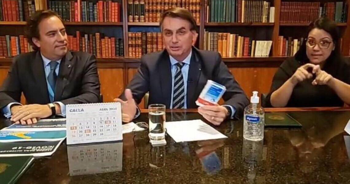 Em live, Bolsonaro dá recado a Mandetta: