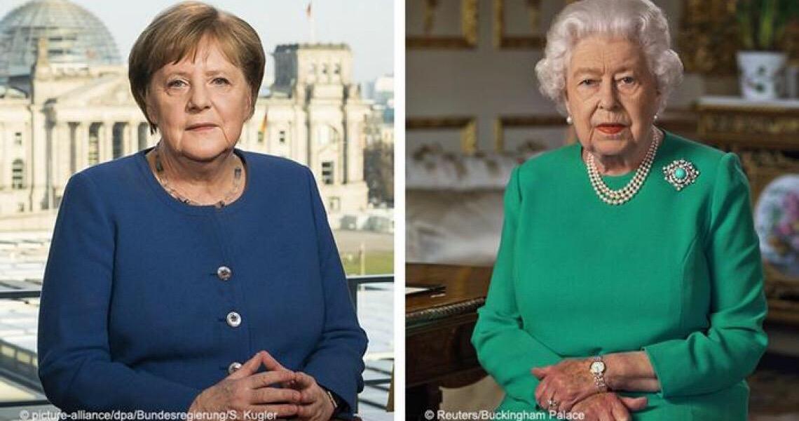 Merkel e rainha Elizabeth mostram como se faz