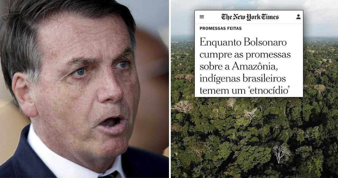 New York Times alerta para perigo de 'etnocídio' na Amazônia