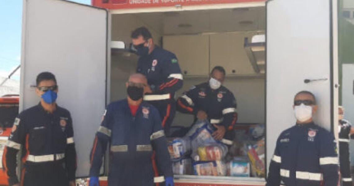 Samu entrega 3 toneladas de alimentos a famílias carentes