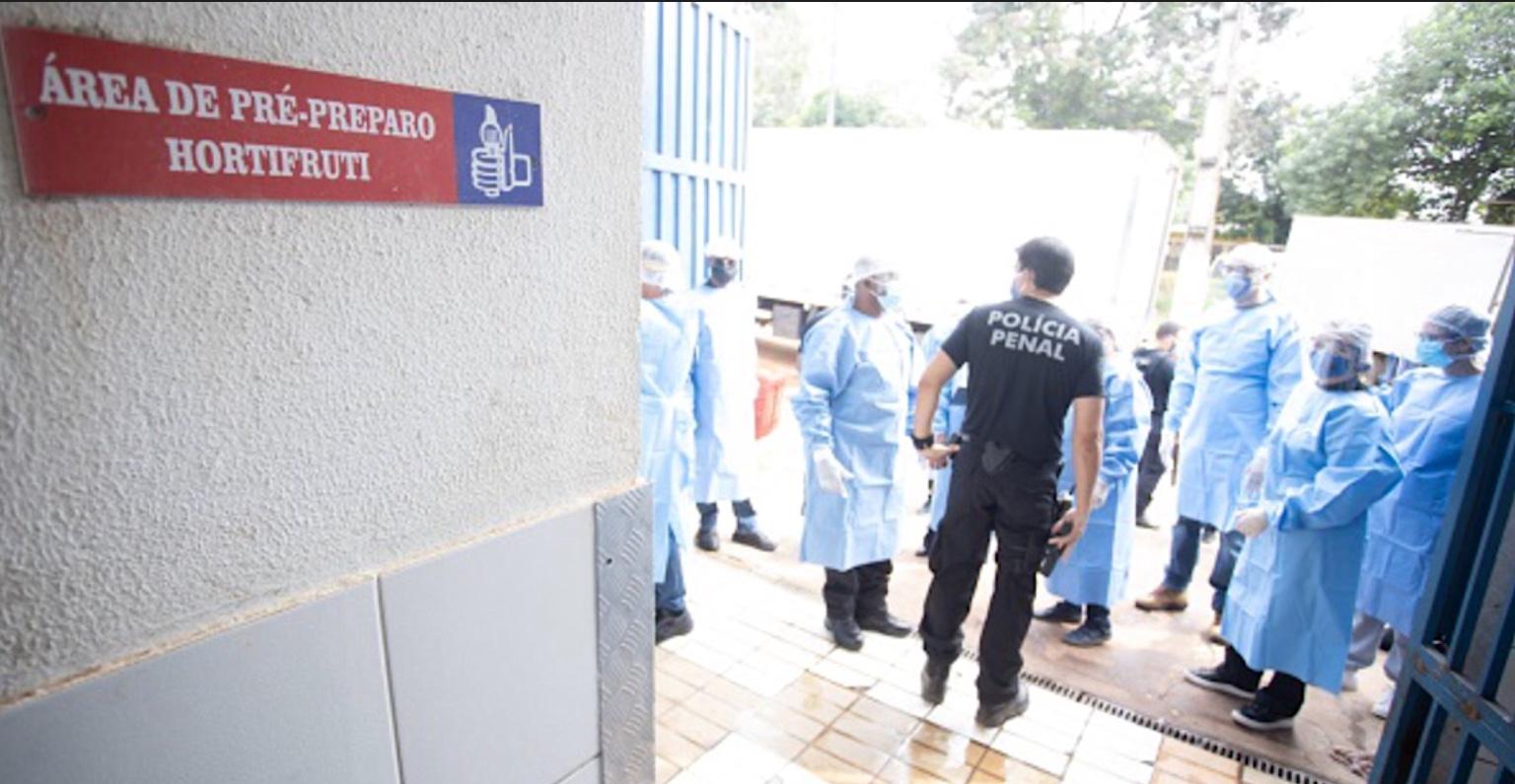 Covid-19: MP do DF acompanha inspeção em cozinha do Complexo da Papuda