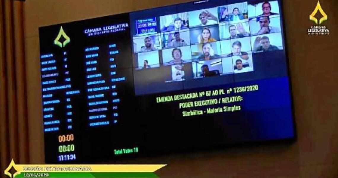 Câmara Legislativa do DF aprova Procred em segundo turno