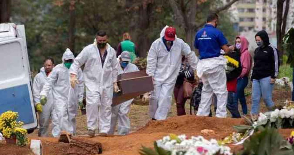População morta por covid-19 no Brasil equivale a todo Sudoeste/Octogonal