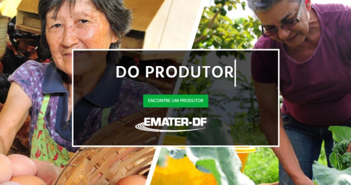 Emater-DF lança site para aproximar produtores e consumidores