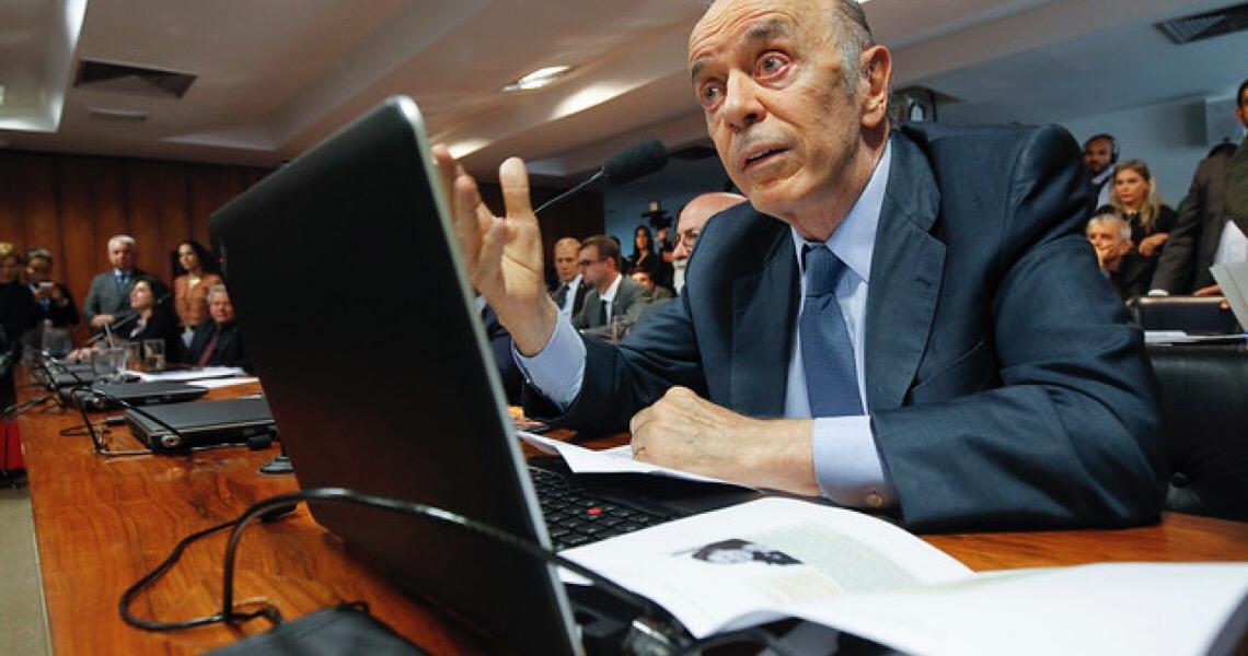 Alcolumbre barra busca no gabinete de Serra no Senado