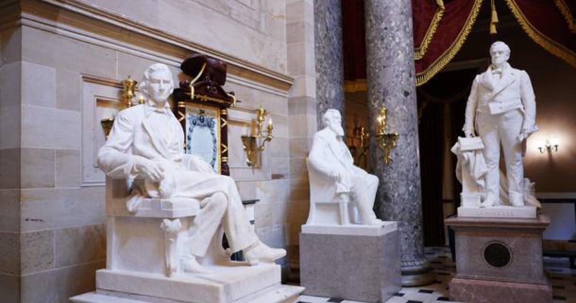 Câmara dos EUA aprova retirada de estátuas de líderes confederados do Capitólio