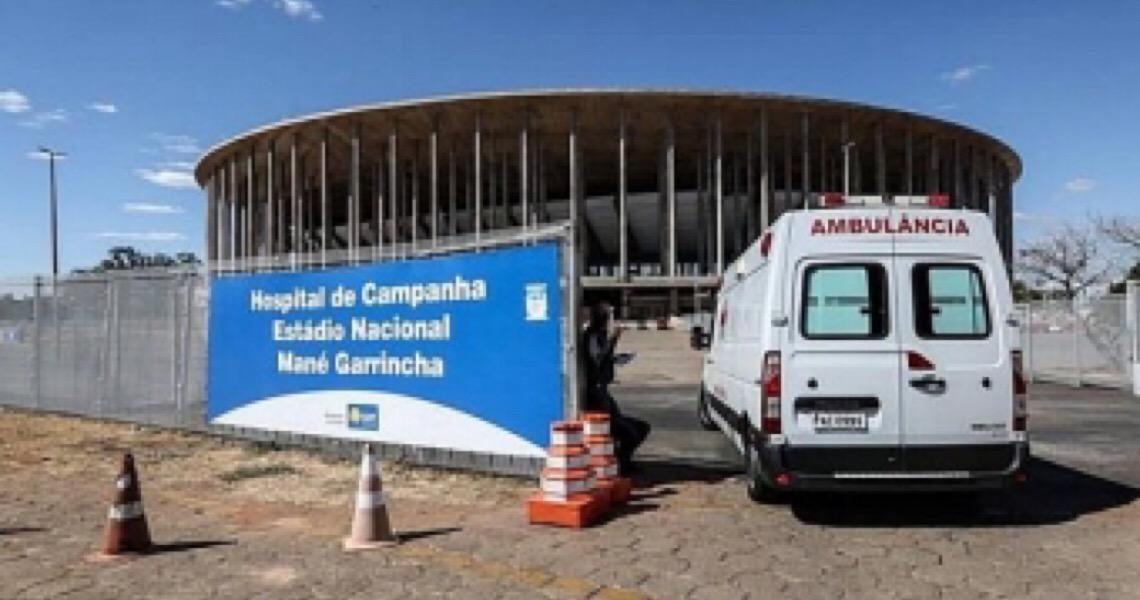 Mané Garrincha: Futebol volta no DF em estádio com 147 pacientes internados pelo coronavírus