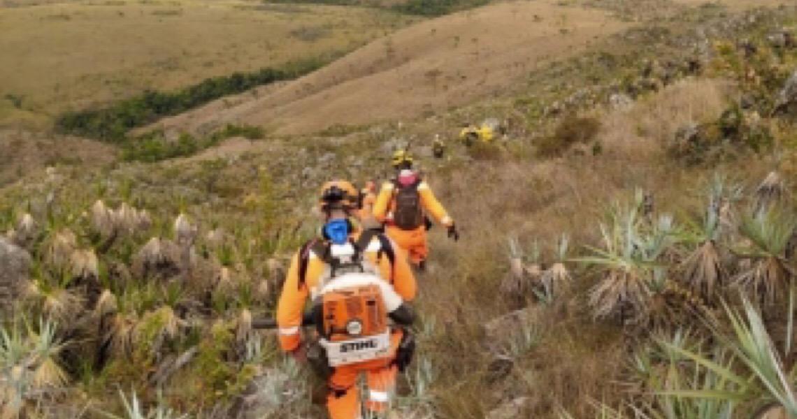 Incêndio destrói 21 mil hectares do Parque Nacional da Serra da Canastra