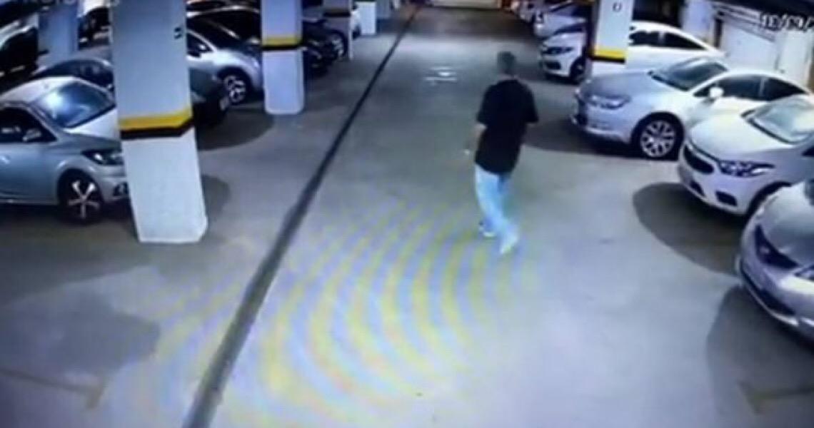 Em vídeo: Veja o momento em que advogado do DF incendeia o carro da ex-noiva