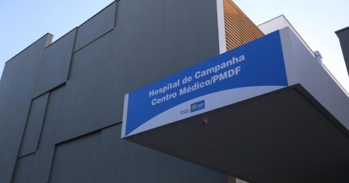 Com unidades da rede lotadas, Hospital de Campanha da PMDF tem só 7% de leitos de Covid-19 ocupados