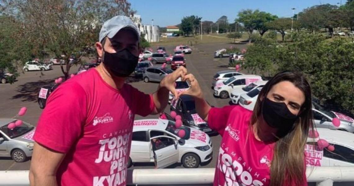 Carreata pela vida de pequena Kyara colore ruas de Brasília neste domingo