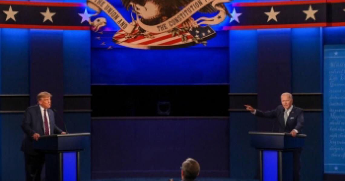 'Cala a boca, cara': Campanha de Biden vende camisa com resposta de democrata a Trump em debate