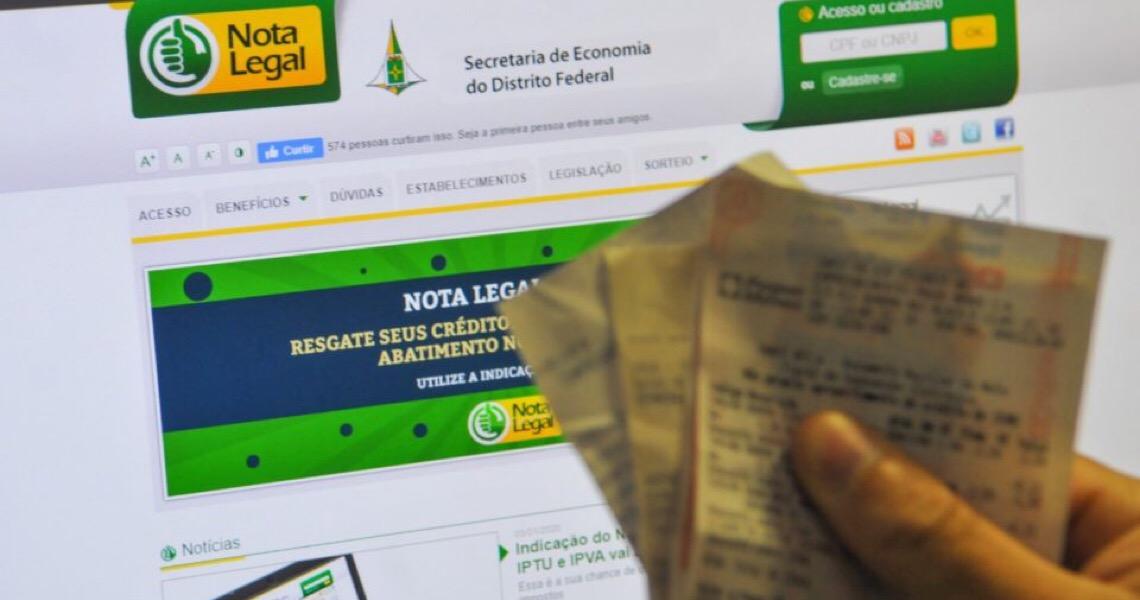 Nota Legal sorteia R$ 3 milhões em prêmios na próxima terça às 15h, no Salão Nobre do Palácio do Buriti