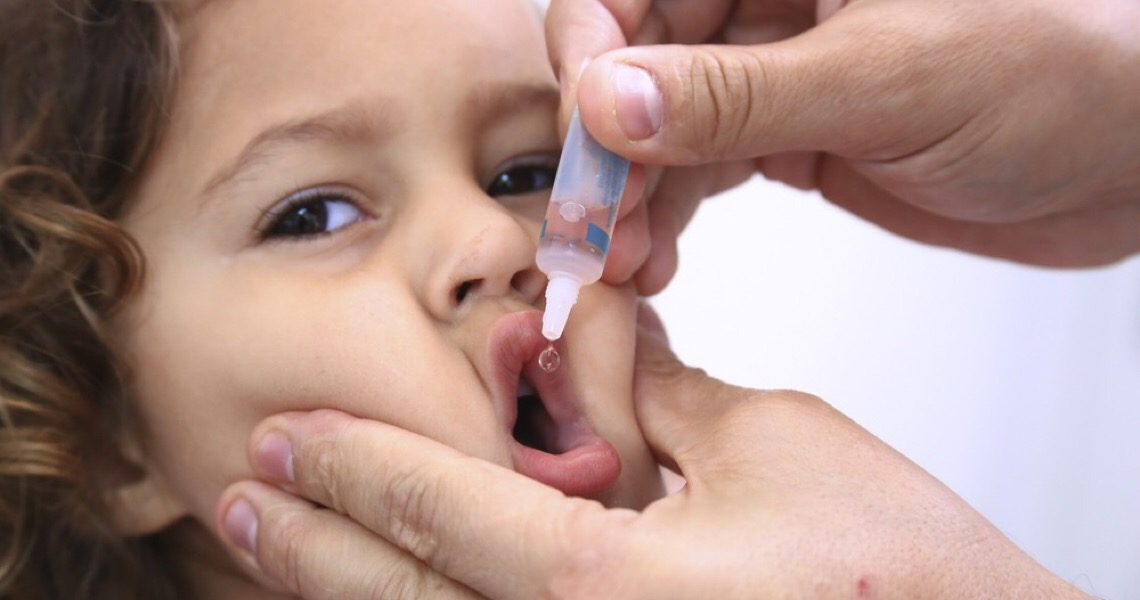 Distrito Federal atinge apenas 30% da meta de cobertura da vacinação contra poliomielite