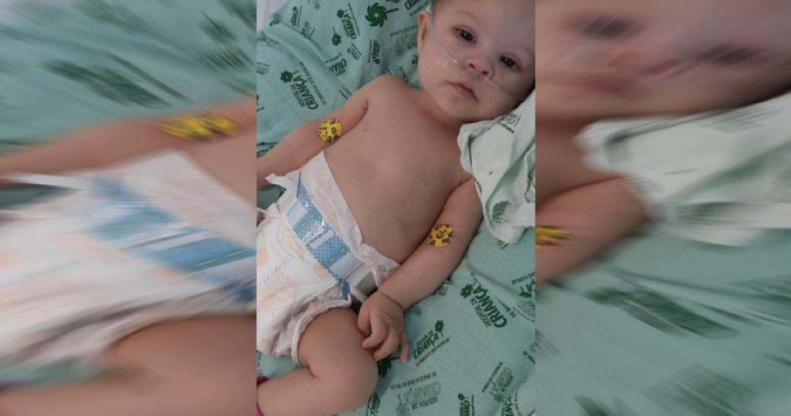 Bebê do DF na fila por cirurgia cardíaca faz 7 meses. Risco de sequelas cresce