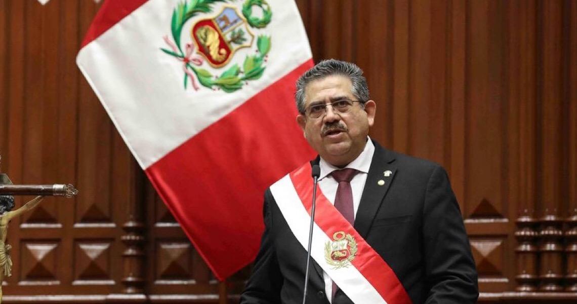 Presidente interino do Peru anuncia renúncia ao cargo