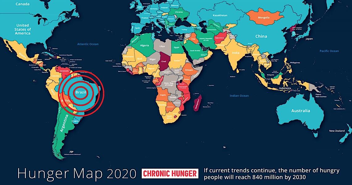 Entre o sonho e a realidade, o fato concreto é que o Brasil voltou ao mapa mundial da fome