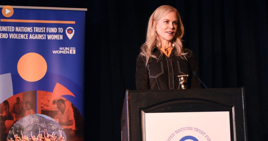Atriz Nicole Kidman participa de evento na ONU contra a violência de gênero