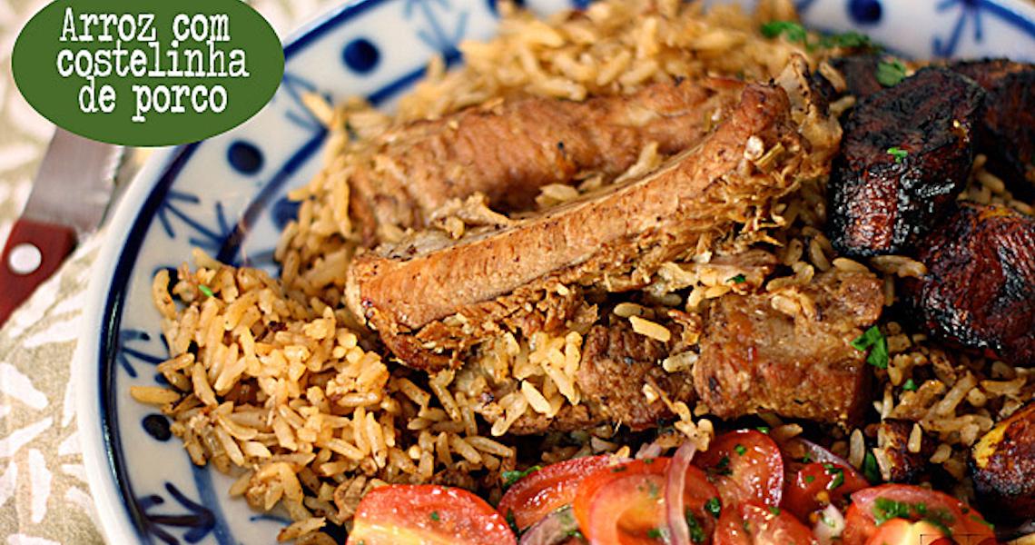 A dica de arroz com costelinha de porco vai com