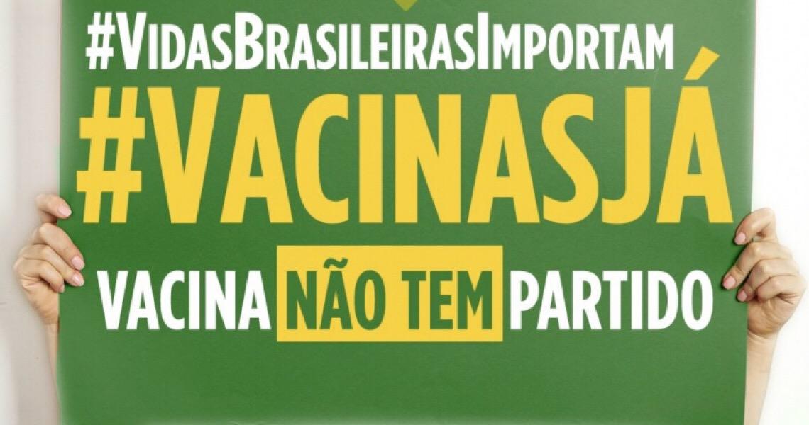 Campanha Vidas Brasileiras Importam cobra de Bolsonaro imunização contra a covid-19