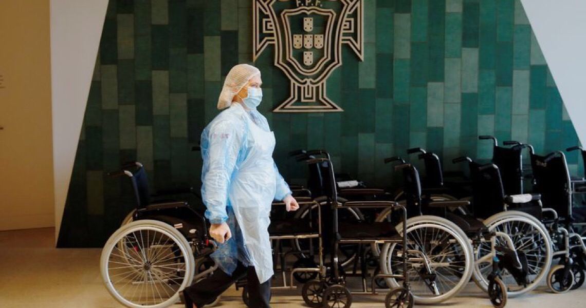 Centro de treinamento da seleção de Portugal é convertido em hospital para Covid-19