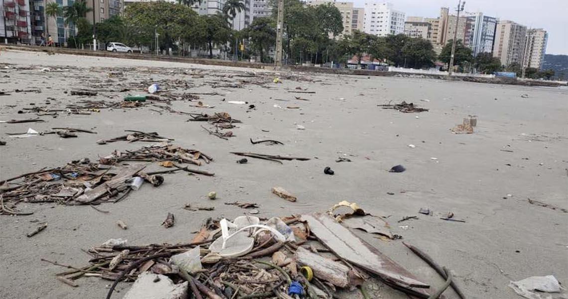 Lixo do mar no litoral de São Paulo será mapeado