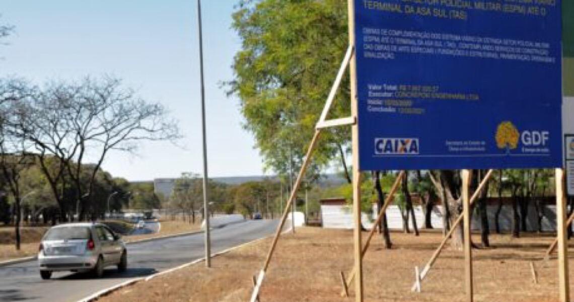 Governo do DF interdita alça de acesso ao Eixo W para obras na ESPM