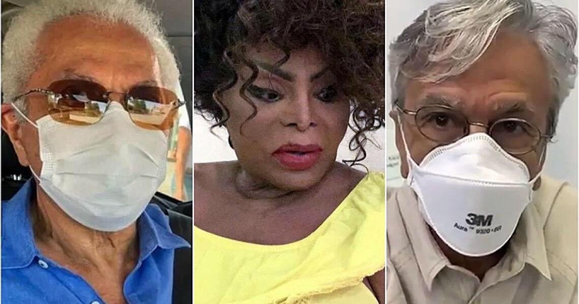 Vacinados contra covid: Elza, Caetano e Paulinho ressaltam importância da imunização