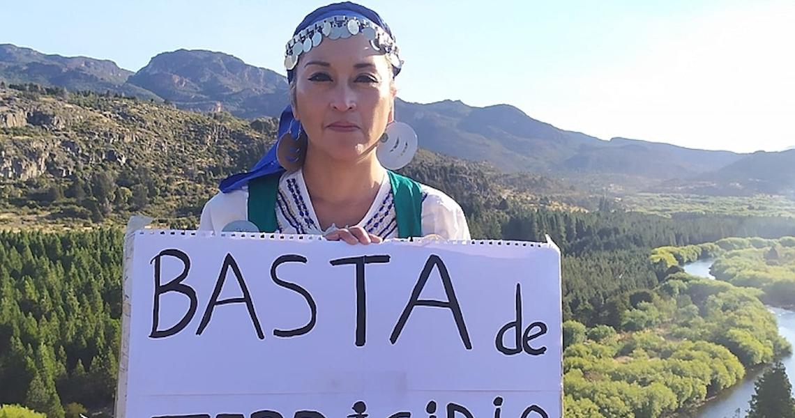 Mulheres indígenas trilham 1200 km da Patagônia a Buenos Aires denunciando terricídio