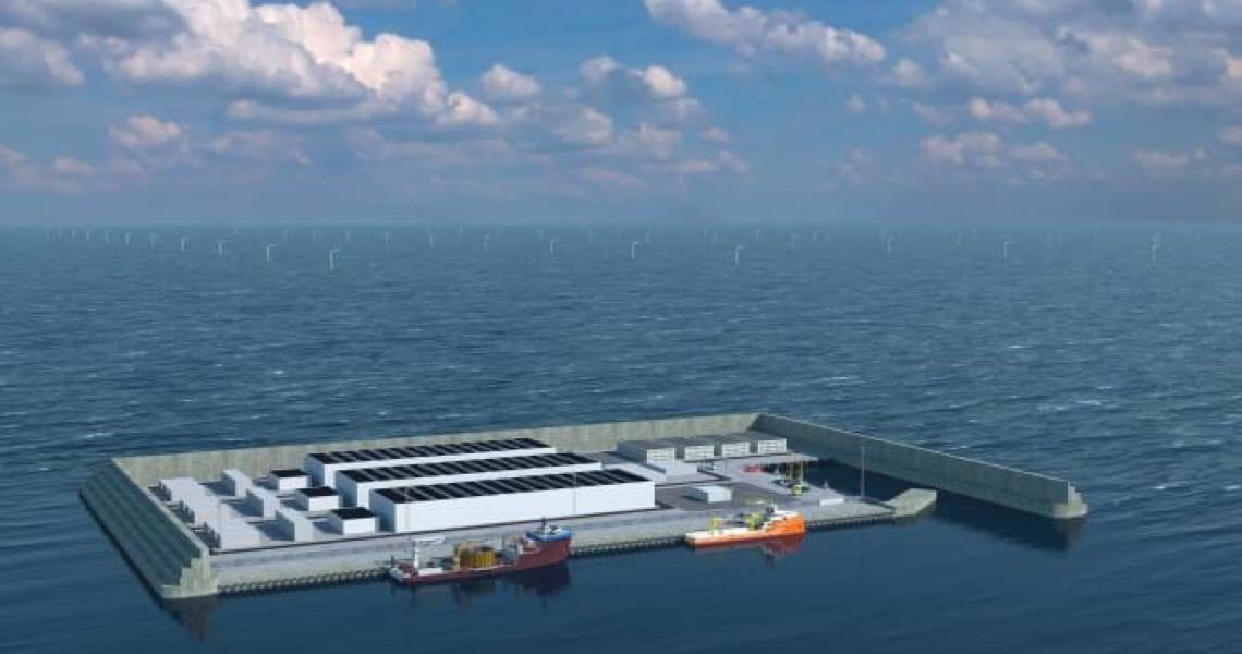 Ilha artificial para produzir energia limpa na Dinamarca