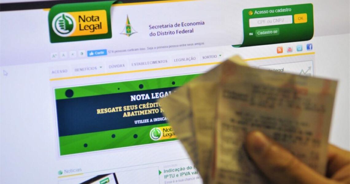 Sorteio do Nota Legal: Na reta final para quitar débitos no DF
