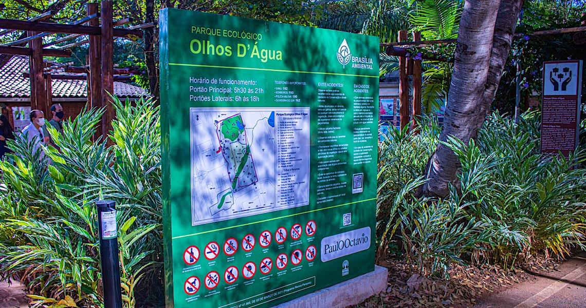 População aprova entrega da sinalização no Parque Olhos D'Água