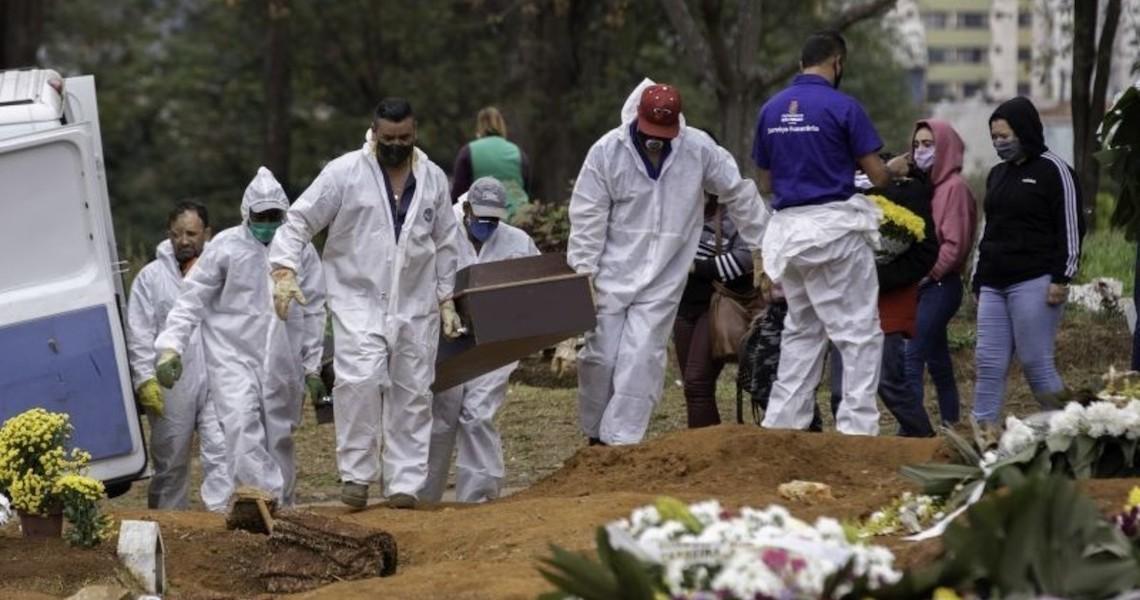 Brasil é o país das Américas com maior nº de mortes por milhão causadas pela Covid-19