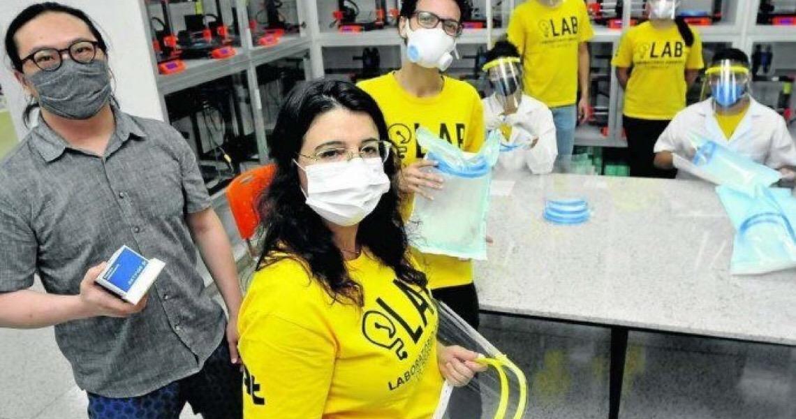 Professores e alunos da UnB se unem para consertar respiradores e produzir máscaras