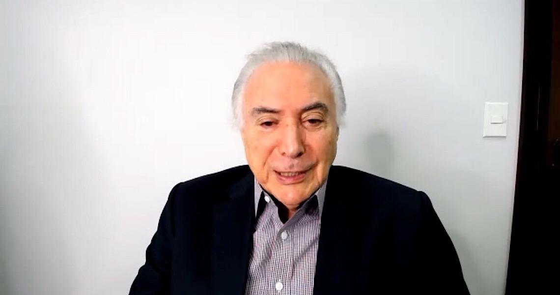 Ex-presidente brasileiro Temer diz que na luta contra Covid-19 o mais importante é preservar a vida