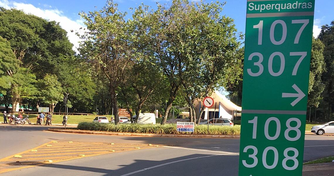 Sinalização da SQS 308 agora é obra do Museu de Arte de Brasília