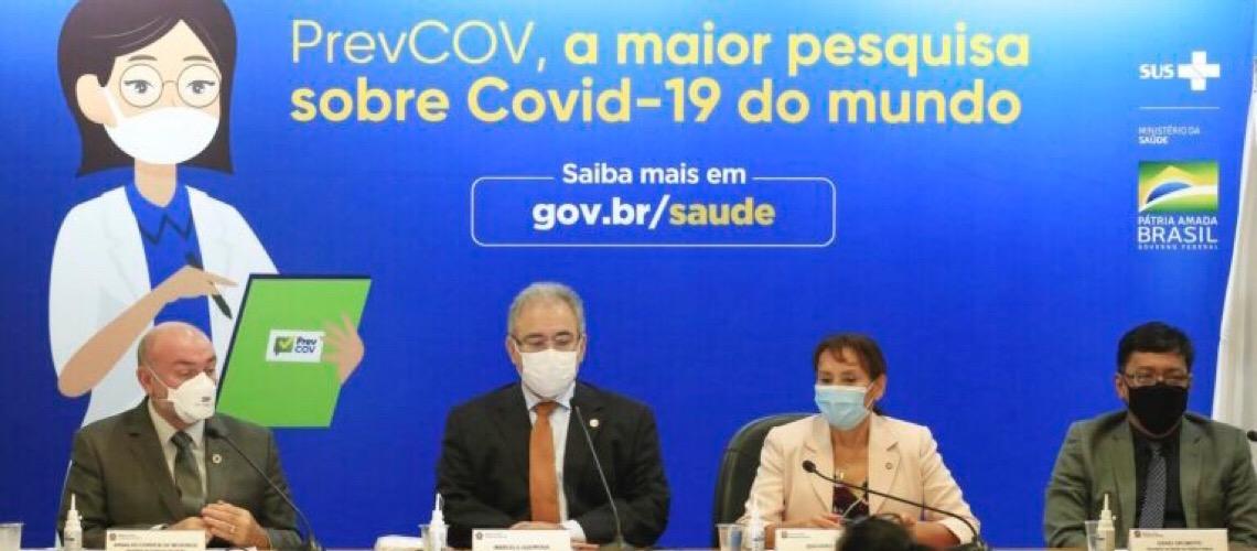 Lançada pesquisa sobre infecção por Covid-19 no Brasil