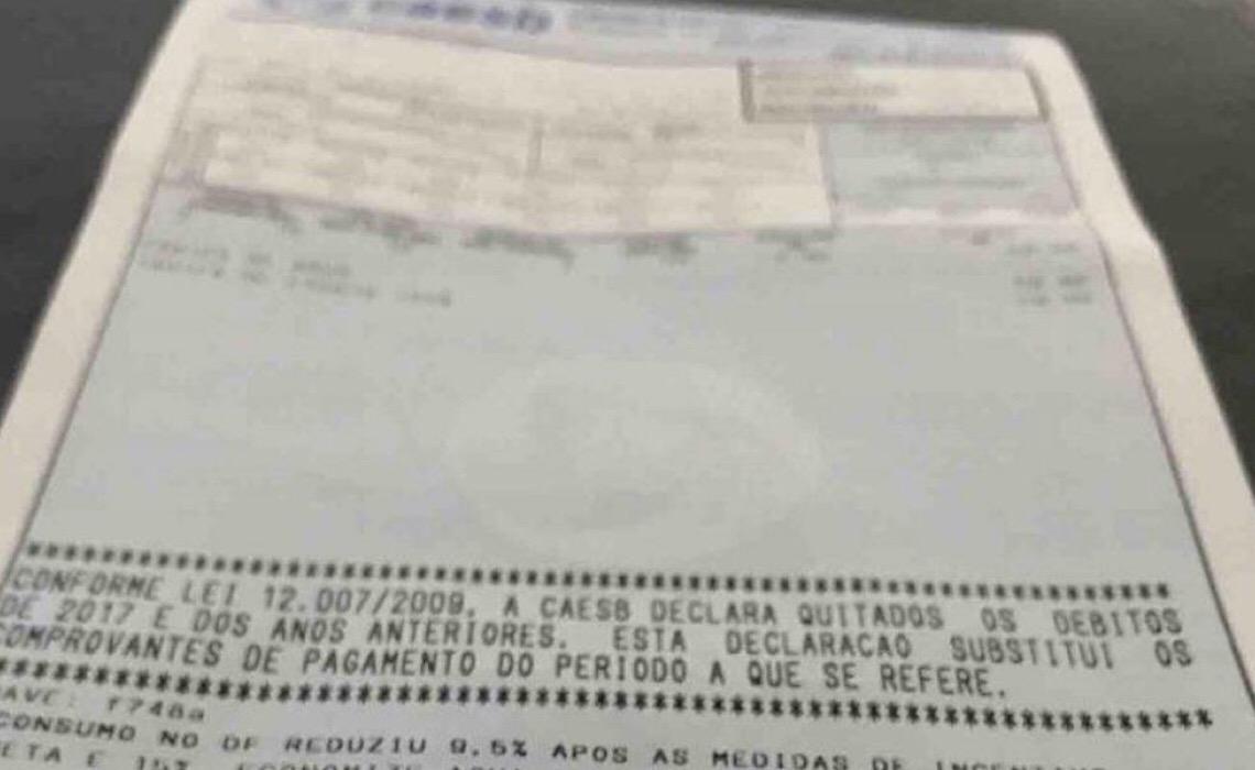 Pagamentos da Caesb não serão mais aceitos em casas lotéricas
