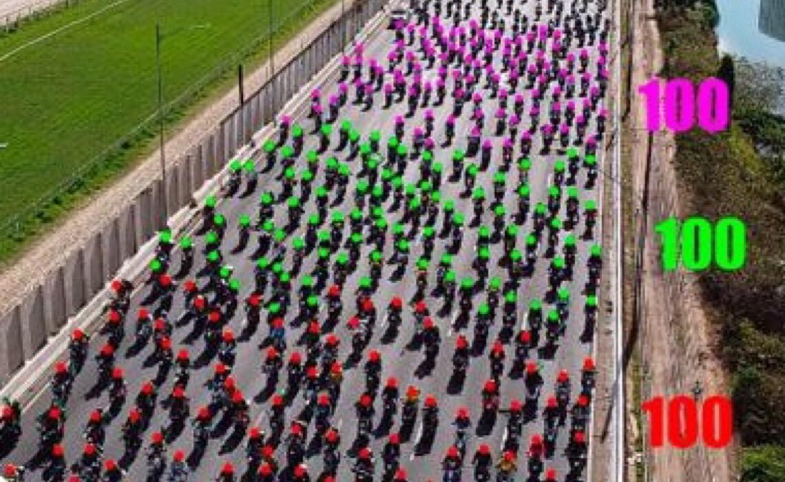Vídeo demonstra que 'motociata' de Bolsonaro reuniu 6.253 motociclistas e não 1 milhão