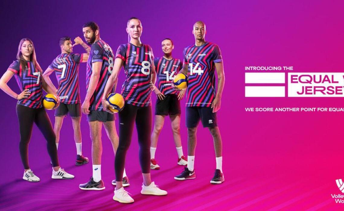 Craques do vôlei usam camisas pela igualdade de gênero na Liga das Nações
