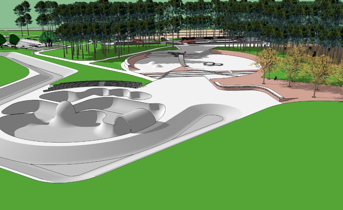 Um complexo de skate com padrão olímpico no Parque da Cidade, em Brasília