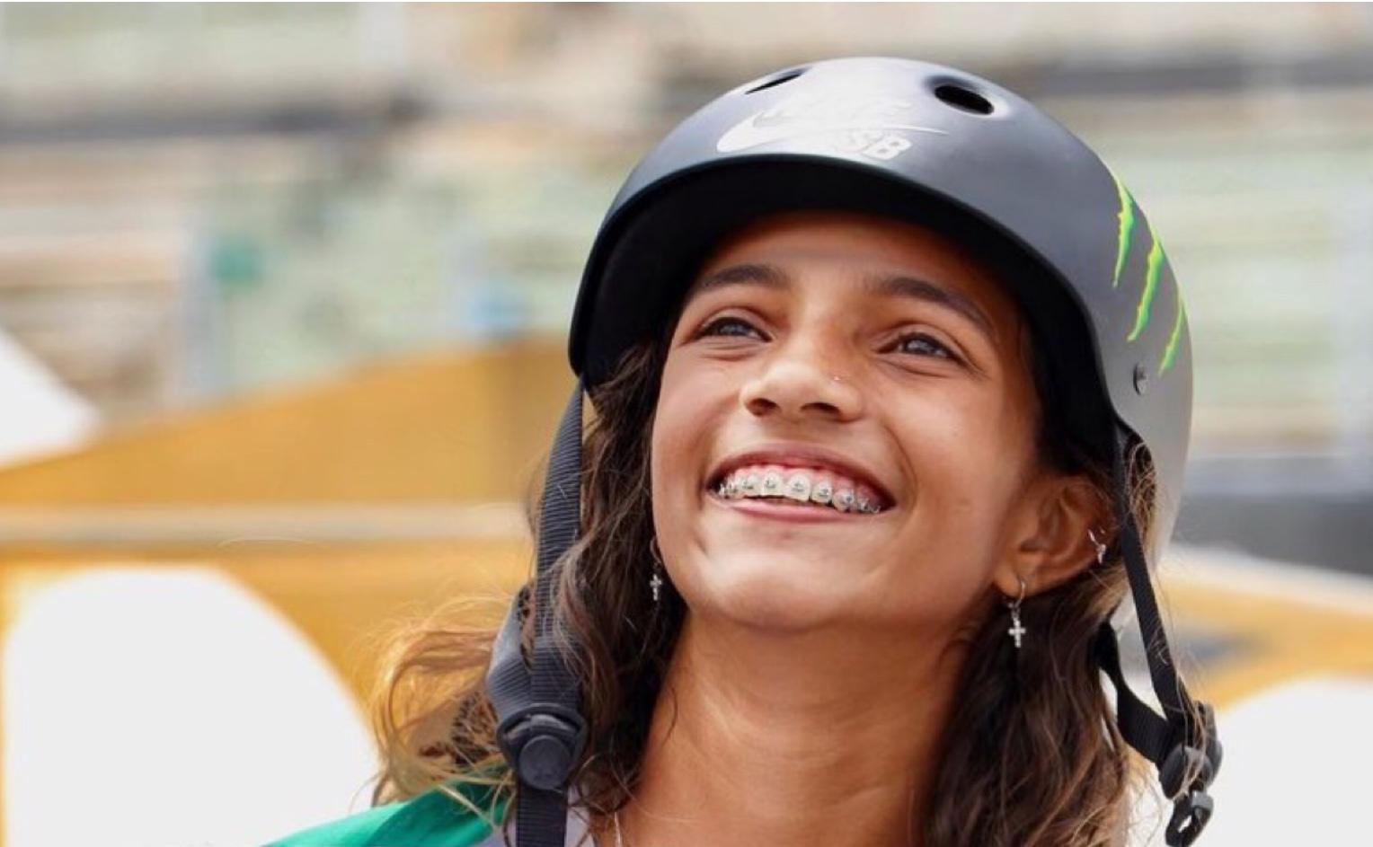 Com 13 anos, Rayssa Leal é a caçula da delegação brasileira na Olimpíada de Tokyo