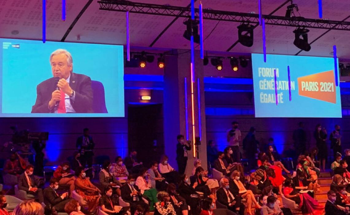 Guterres cita desequilíbrio de poder entre gêneros no Fórum Geração Igualdade, em Paris