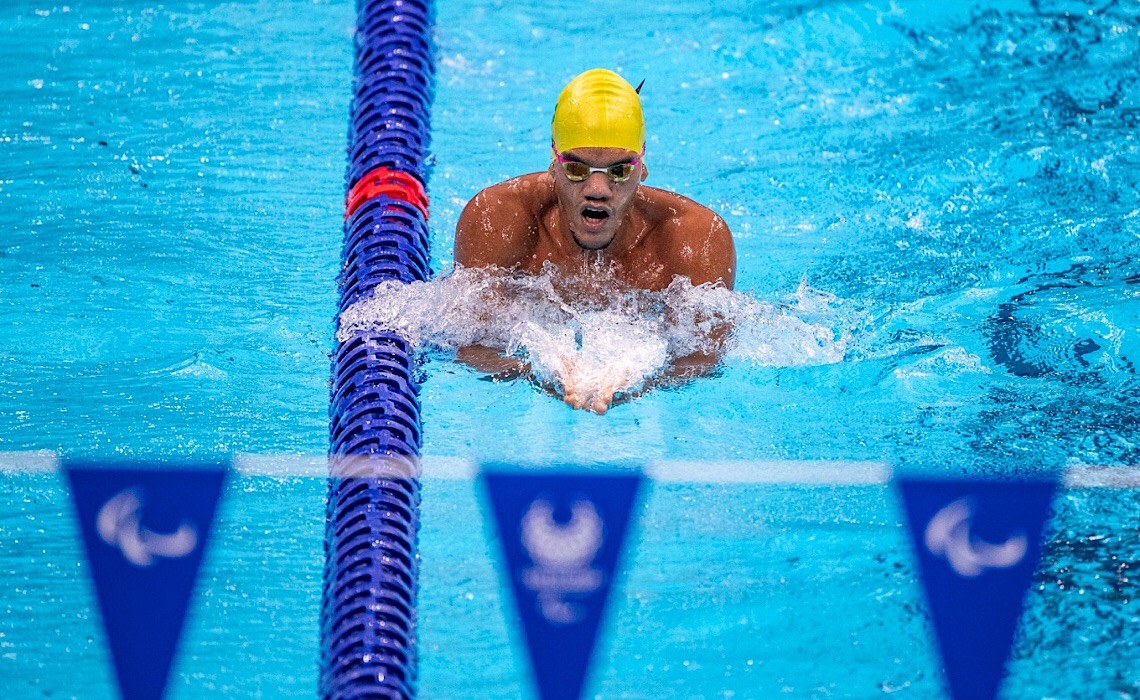 Brasiliense estreia nas piscinas das Paralimpíadas de Tóquio
