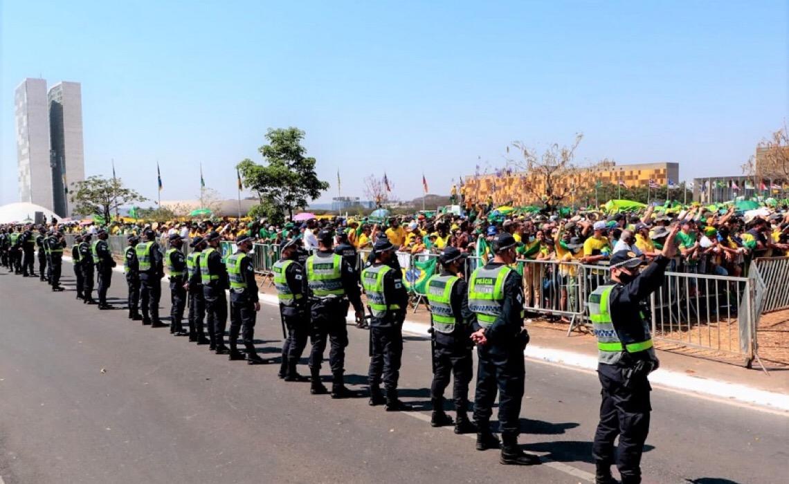 Atos populares de 7 de setembro no DF ocorrem de forma pacífica
