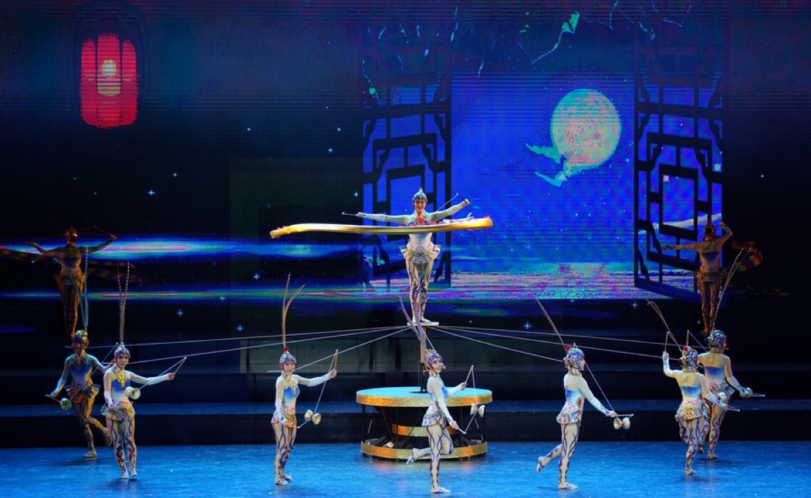 Festival internacional de acrobacia é inaugurado no norte da China