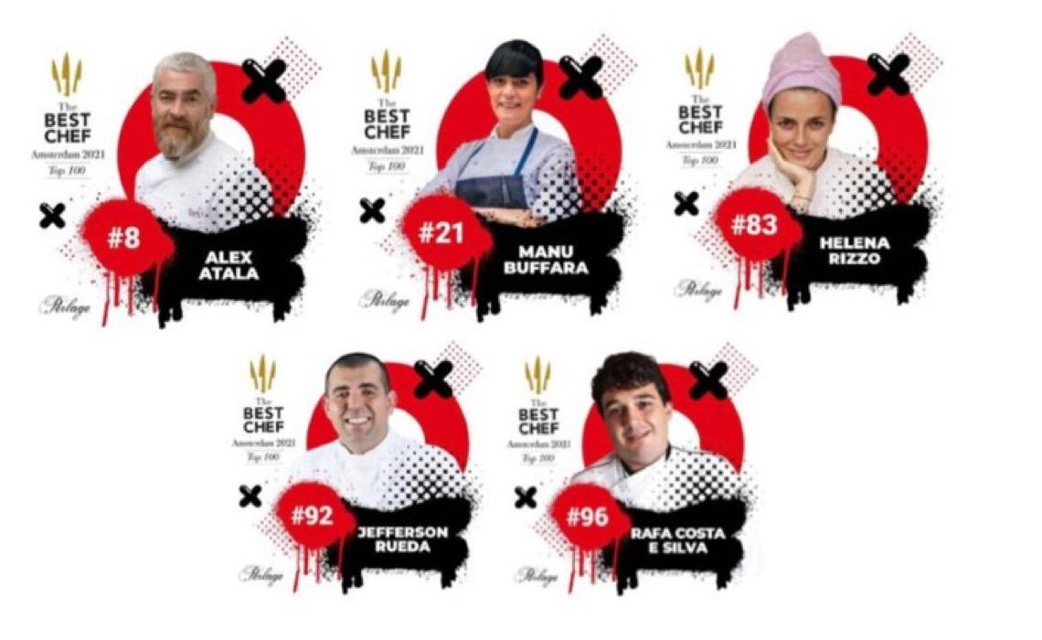 Cinco chefes de cozinha brasileiros estão entre os melhores do mundo