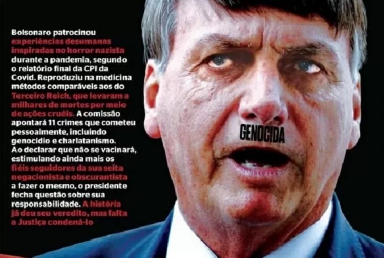 Ministro da Justiça pede que PF investigue revista IstoÉ por capa com crítica a Bolsonaro