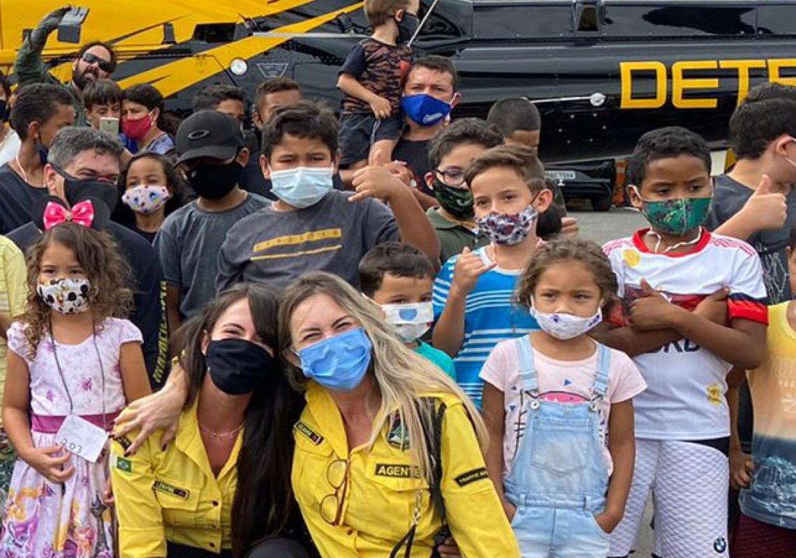 Ação social do Detran-DF distribui brinquedos a 200 crianças